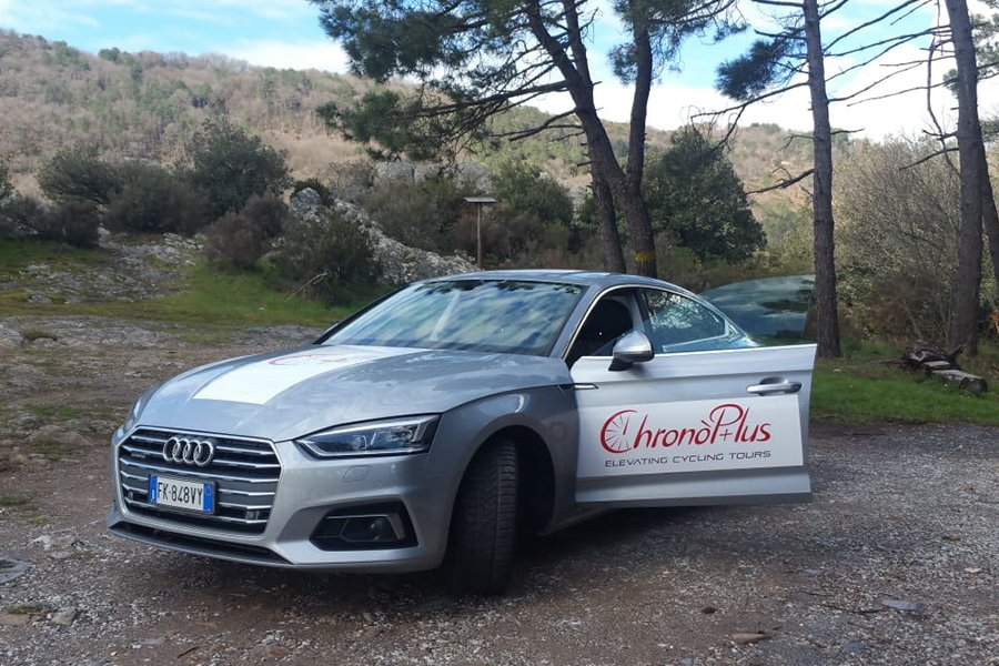 our bike trip support car - ChronòPlus